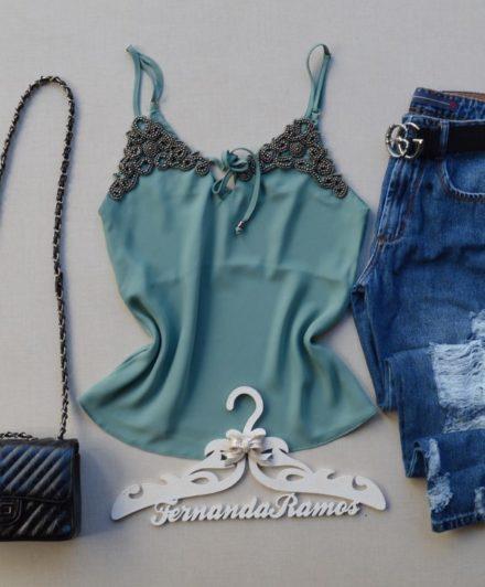 04603e8cd3 Fernanda Ramos Store - Regata crepe amarela com