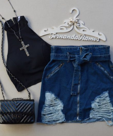 fernandaramosstore saia jeans com ziper e cinto 2