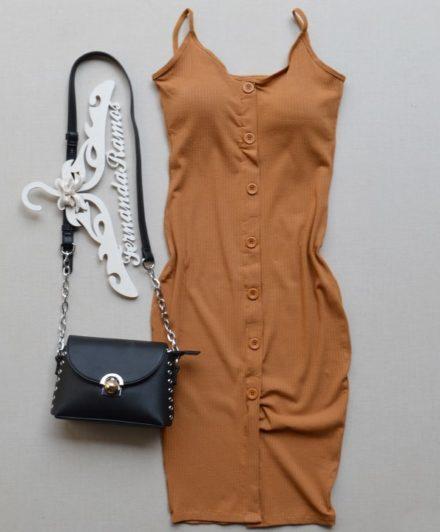 fernandaramosstore vestido canelado com bojo 2