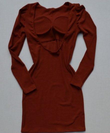 fernandaramosstore vestido canelado manga longa 6