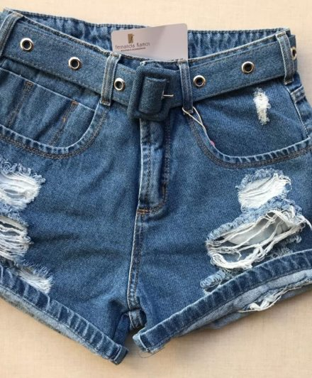 fernandaramosstore short jeans com amarracao