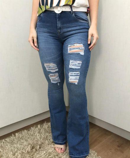 fernandaramosstore calca jeans flare