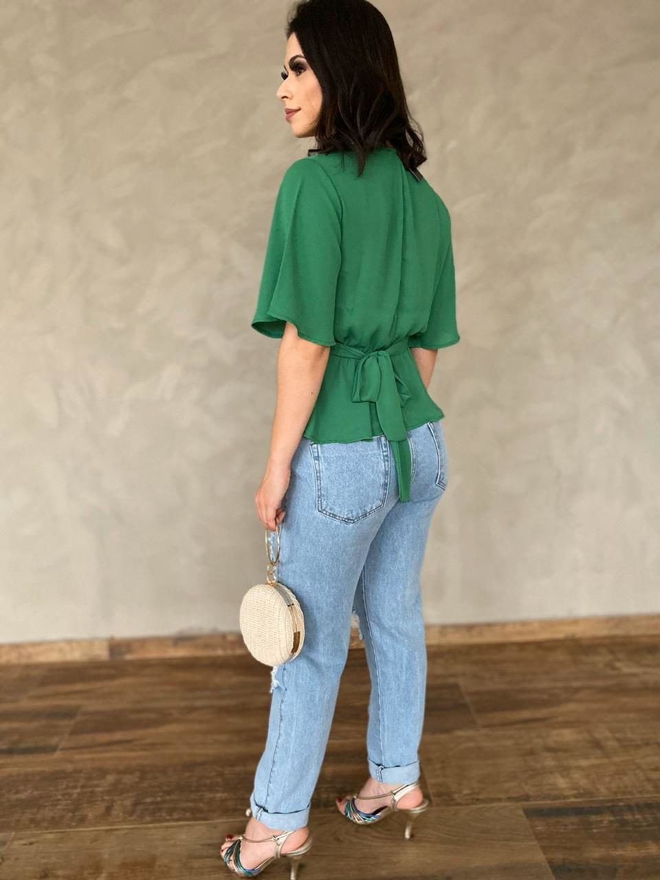 fernandaramosstore blusa meia manga com franzido e botoes 2