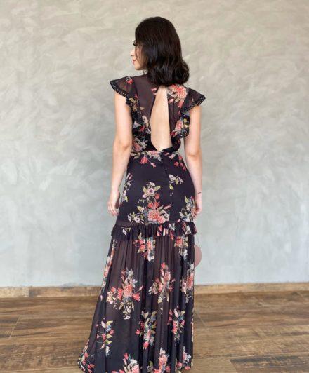 fernandaramosstore vestido longo tule floral 2