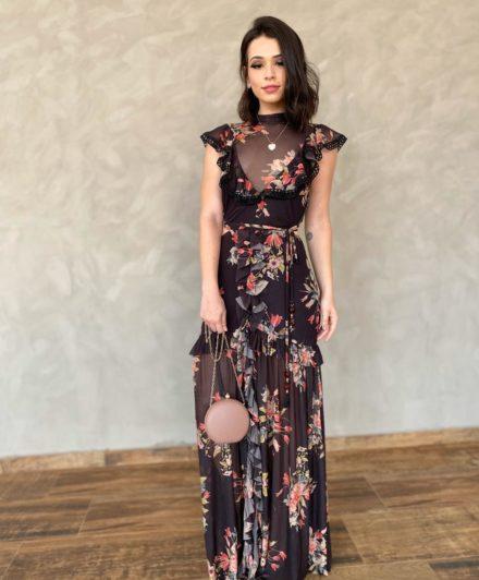 fernandaramosstore vestido longo tule floral