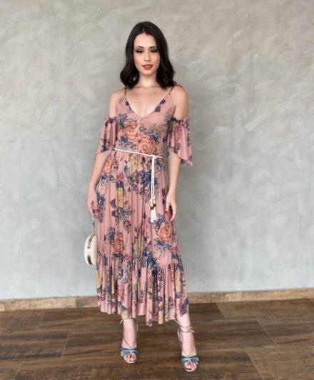 fernandaramosstore vestido midi tule floral